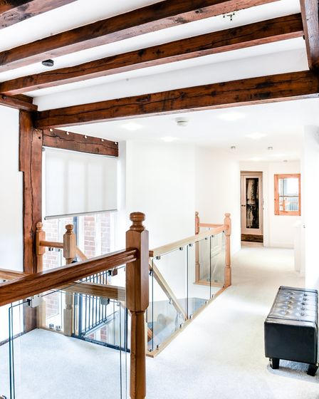 From old to new, the transition from the original 17th century Hall to the new build house is elegan