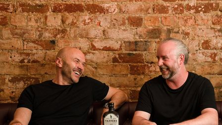 Simon Rimmer and Tappers Gin founder Steve Tapril Photo: James Bartkiw
