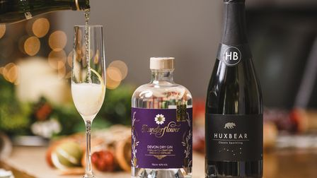 Thunderflower gin and Huxbear sparkling wine combine to make an ideal, locally sourced tipple. Photo