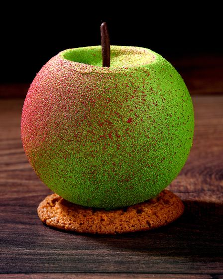 Northcote chef Lisa Goodwin-Allen's apple dessert is a visual delight and tastes as good as it looks