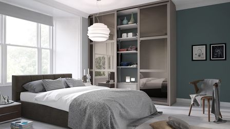 Sliding doors are an ideal way to add storage and save space. Picture: Spaceslide