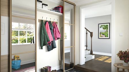 Design a bespoke wardrobe with a finish that matches your decor and is made-to-measure for any space
