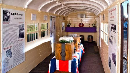 The railway carriage that carried the Unknown Warrior from Dover to London