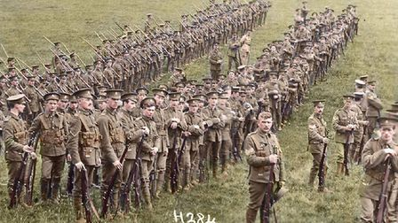 Hertfordshire Regiment soldiers during the conflict (photo: Herts at War)
