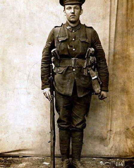 Hitchin's Frank Young, posthumously awarded the Victoria Cross for courageous leadership under fire.