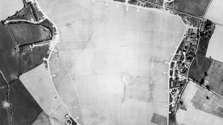 Aerial picture of RAF Westhampnet, near Chichester, one of the 11 Group RAF Battle of Britain airfie