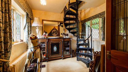 An iron spiral staircase is just one of the interesting features in Sir Richard Branson's childhood