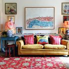 The telly room is a comfortable and cosy space. The contents of the room are a real junk shop mix wi
