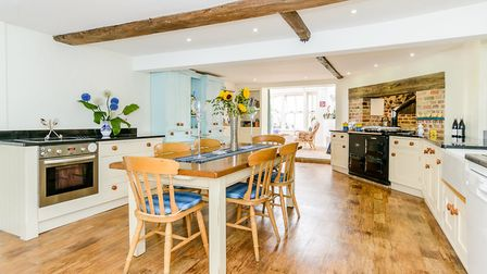 Country kitchen makes the most of the features (photo: Savills)