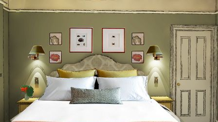 An illustration of what one of the bedrooms at Glebe House will look like. Photo: Studio Alexandra