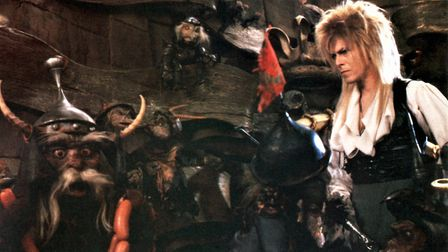 David Bowie and goblins in Labyrinth (1986). Image: United Archives GmbH/Alamy Stock Photo