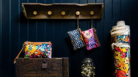 The collection features original designs inspired by the flora and bees native to Devon and Cornwall