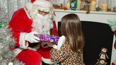 Children will be able to meet Santa in his enchanting on-board grotto. Photo: Stuart Line Cruises