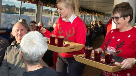 Grown-ups can enjoy a glass of secret recipe homemade mulled wine and locally baked mince pies. Phot