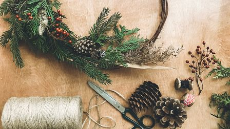 Bring nature inside by creating decorations with natural materials such as pine, cones, leaves and t