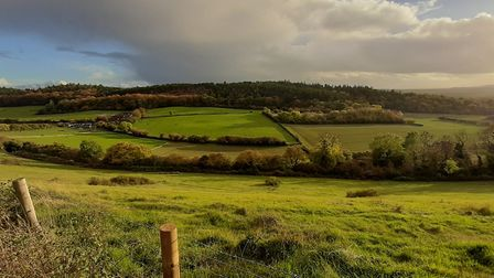 View from Pewley Down . Image: Chris Howard & Ken Bare