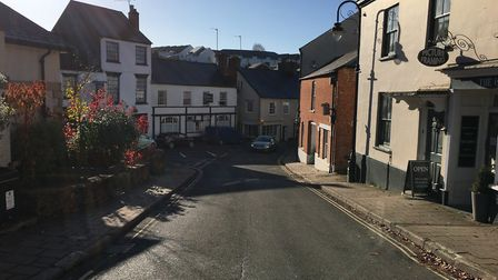 Looking down Silver Street in Ottery. Photo: Chrissy Harris