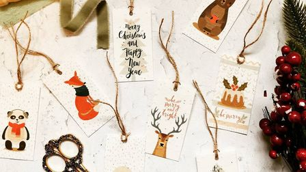 Christmas cards and tags are made from recycled reindeer dung. Photo: The Little Green Paper Shop