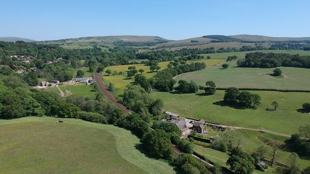 A view from above High Lane, through Lyme Park towards Black Rocks in Disley. Photo: DKS Drones