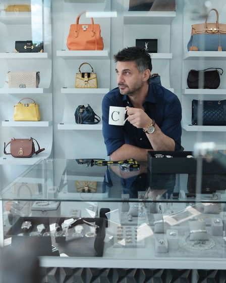 James surrounded by some of the high-end assets in which he specialises (photo courtesy Prestige Paw