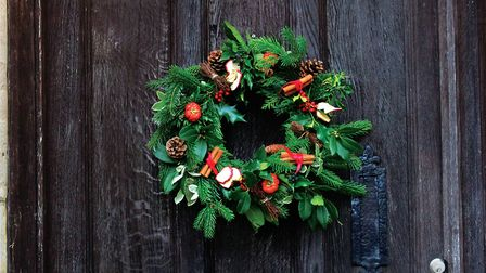 The completed wreath at Fairlight Hall. Photo: Leigh Clapp