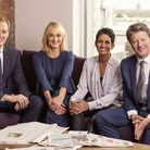 Louise with her 2020 BBC Breakfast colleagues: Dan Walker, Naga Munchetty and Charlie Stayt Photog