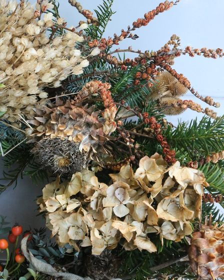 The natural beauty of a handmade wreath