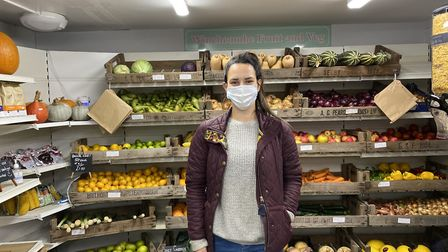 Clare Ballantyne, owner of Winchcombe Fruit and Veg