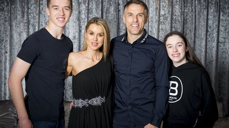 Team Neville: Harvey, Julie, Phil and Isabella are looking forward to a foodie Christmas Day