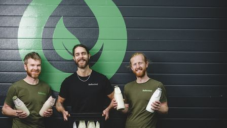 Richard Eckersley, Dan Dawson, Nick Barradale are the men behind the bottles at ReRooted. Photo: Ste