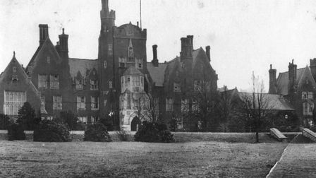 Photograph of the main building of Epsom College, just after WW1. John Piper was a student here from
