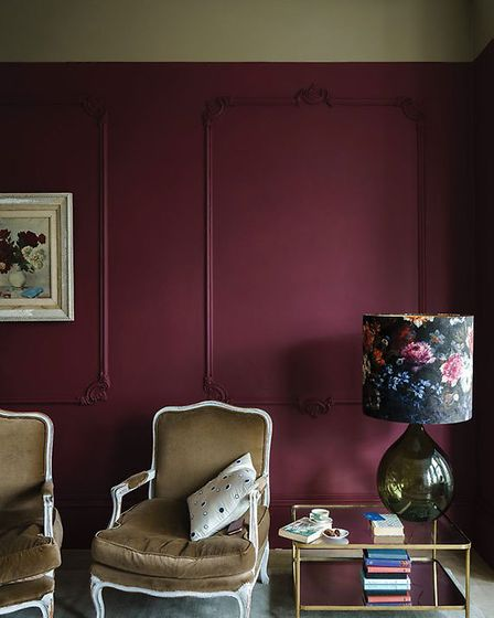 Farrow and Ball Preference Red No.297 will create a warm and cosy winter interior this season