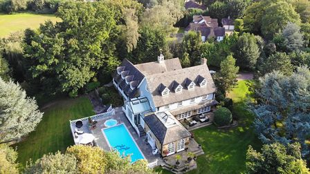This drone shot highlights the amazing 11 acres of private, rolling countryside nestled in the midst of Epping Forest (photo ...