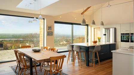 The 'living area' includes a living room and kitchen/diner. Photo: Laurence Liddy
