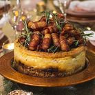 Pigs in blankets on a cheesecake? Image: pleesecakes.com