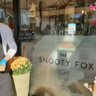 Manager of Snooty Fox Cafe, Shalford, Frankie Ago with assistant Charlotte Woolgar. Image: Chris Howard