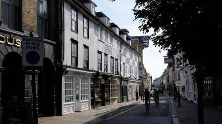 Fore Street in Hertford, birthplace of Samuel Stone