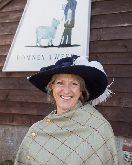 High Sheriff of Kent Remony Millwater models her bespoke cape made from the new Royal St George's of