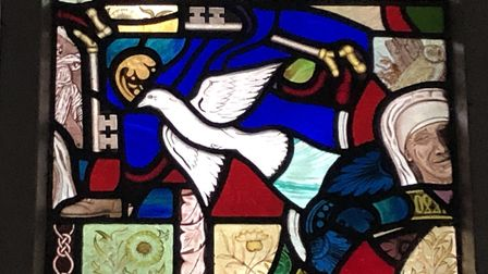 Replacement panel for a church window. Image: John Proctor
