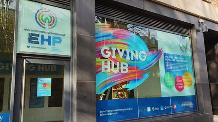 The Giving Hub will occupy a unit on Roman Walk and will be collecting specific donations to support