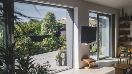 Shirley and Paul love their modern, open-plan living home. Photo: Steve Haywood