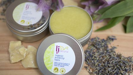 LJ Natural's Scratchy Balm, Lisa's first and still best-selling product