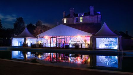 The beautifully lit pods are set against the backdrop of the gardens and Epping Forest (photo courte