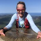 BBC Breakfast presenter Louise Minchin on top of Mount Snowdon – in training for the epic extreme tr