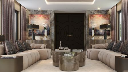The design for the drawing room has a beautiful symmetry