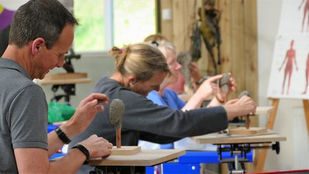 The Sculpture School classroom is a lovely place to learn. Photo: The Sculpture School
