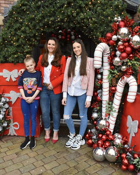 It's a family affair, with Adele's children, Alana and Amber enjoying their beautifully decorated ho