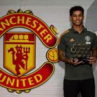 Marcus Rashford, recipient of the This is Manchester Supernova Award