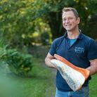 John Nickell, pictured with his smoked salmon, at Blakewell Fishery, near Muddiford, North Devon. Ph