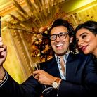 Armand and Shobna enjoying a glamorous occasion in Manchester